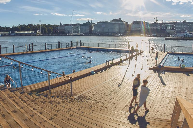 Pools at Helsinki sea spa