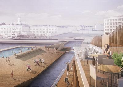 Helsinki Allas 3D konseptikuva, Korjaamo & Huttunen-Lipasti-Pakkanen