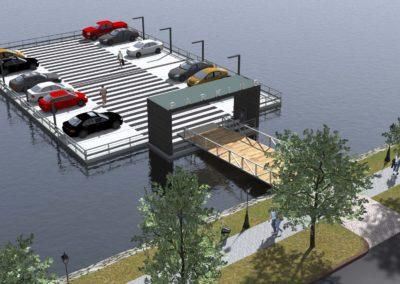 Floating parking area