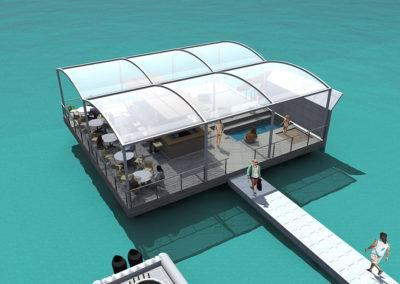 Floating Bar, 3D design by Timo Urala, Marina Housing