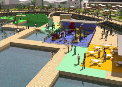 Floating Activity Park, 3D design by Timo Urala, Marinetek