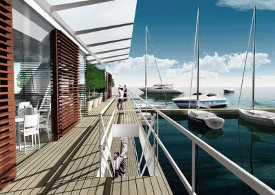 Floating Active Pier, design by Timo Urala, Marina Housing
