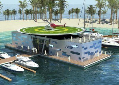 Floating heli terminal by architect Timo Urala