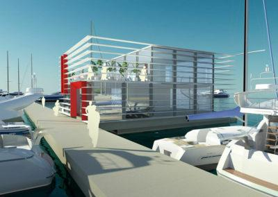 Floating office, 3D design by Marina Housing