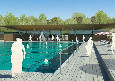 Swimming center 3D - design by Marina Housing