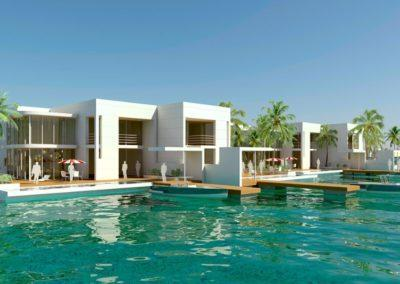 Waterfront villas, 3D design by Marina Housing