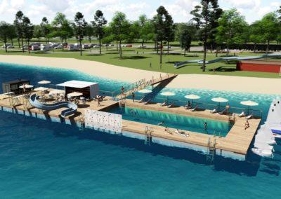 Kelluva vesipuisto tuo rantaan uusia huimia aktiviteetteja